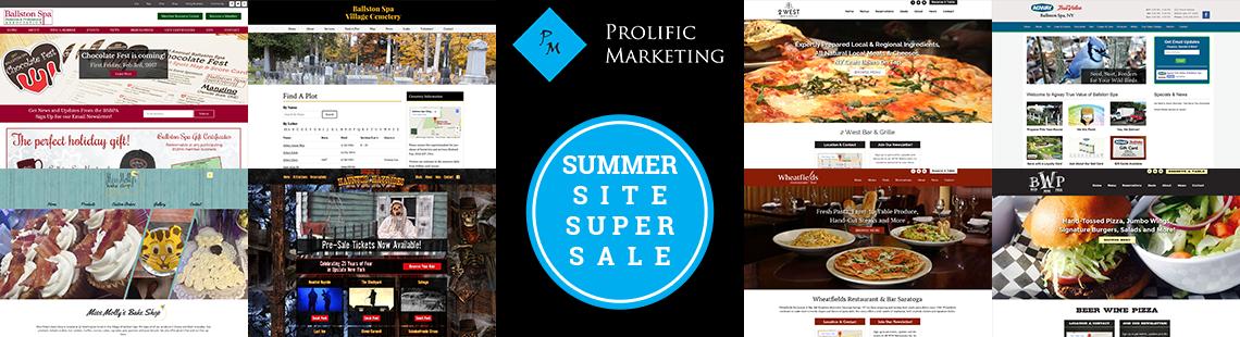 Prolific Marketing - Summer Site Super Sale Website quote